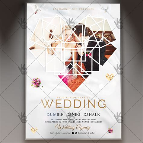 wedding premium flyer psd template psdmarket