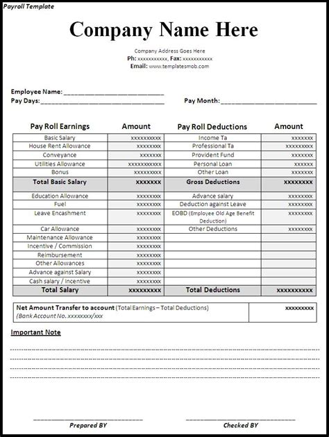 payroll check template excel payroll template doc paper payroll form templates