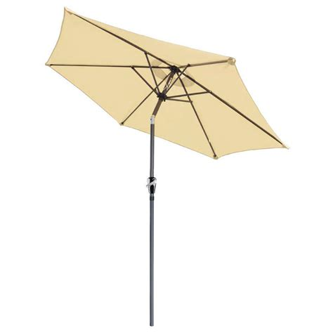 8 Foot Patio Umbrella 8 Ft Patio Umbrella Aluminum Crank Tilt Deck Sunshade