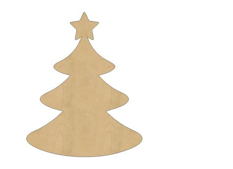 christmas tree cutout shape laser cut unfinished wood shapes