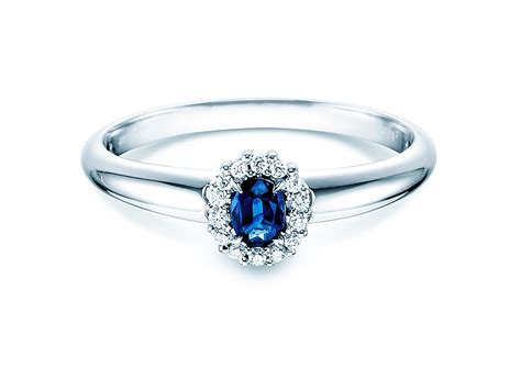 Verlobungsring Mit Diamant by Verlobungsring Saphir 0 25ct Mit Diamant 0 06 Ct 450069