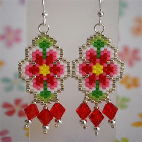 beaded flower earring patterns chandeliers pendant lights
