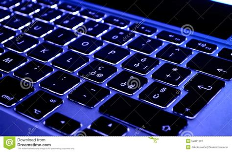computer keyboard light up keys backlit keyboard a new kind of beauty stock photo image