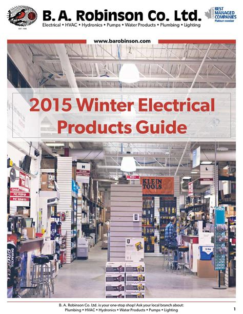 Robinson Plumbing Supply by B A Robinson Winter Electrical Flyer Mb Sk By B A