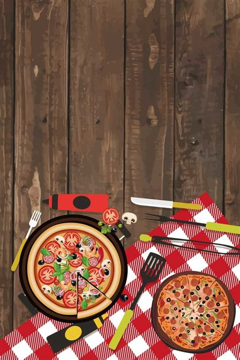 delicious pizza background material pizza poster