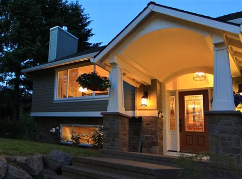 split level ranch house interior split ranch house floor barrel vaulted porch traditional exterior portland