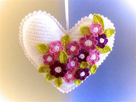 heart pattern english flowery heart crochet pattern english