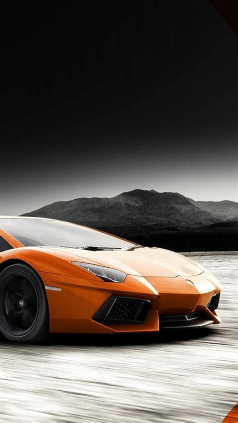 Hd 14 Grey Orange lamborghini aventador orange grey desert iphone 6 plus hd