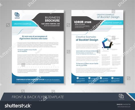 Blue Annual Report Brochure Flyer Design Stock Vector 542556730 Shutterstock Brochure Presentation Template