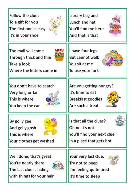 easter egg hunt ideas for adults easter egg hunt clues we have done this a few times