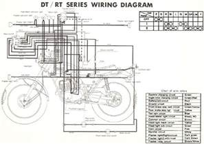 yamaha rt1 360 enduro motorcycle wiring schematics