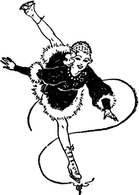 vintage figure skating image pretty  graphics fairy