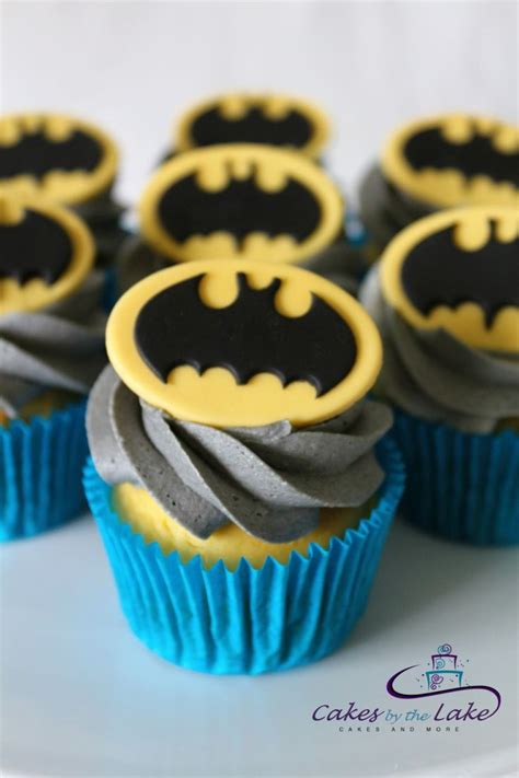 Cupcake Buttercream Birthday Package batman cupcakes here is a dozen cupcakes with grey buttercream icing and fondant