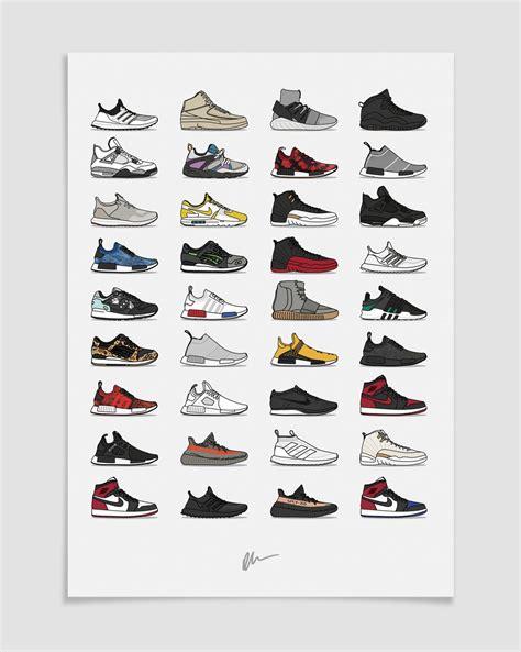 Poster A2 Kick kick posters kickposters 2016 assorted sneaker print