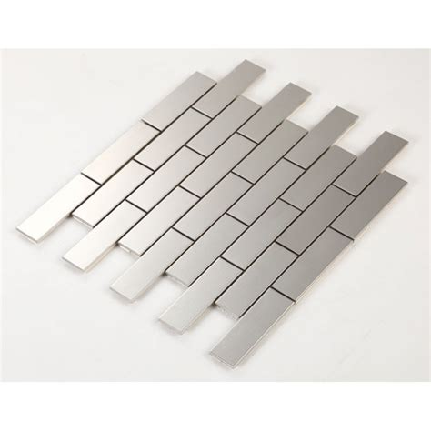 stainless steel bathroom tiles metallic mosaic subway tile grey metal kitchen wall tiles