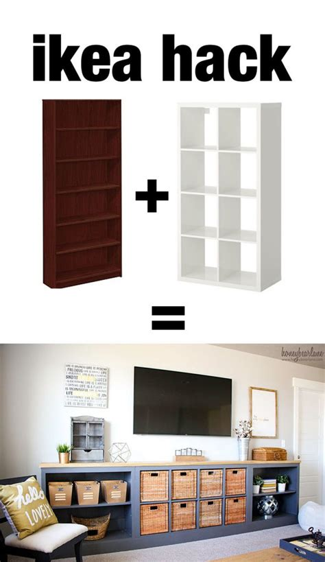 ikea storage hacks ikea hack expedit into long storage unit honeybear lane