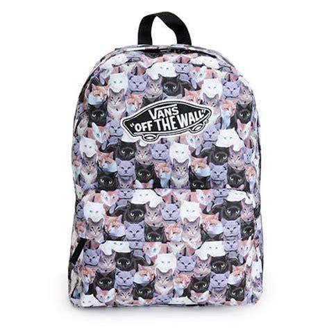 vans pattern backpack vans x aspca realm cat backpack