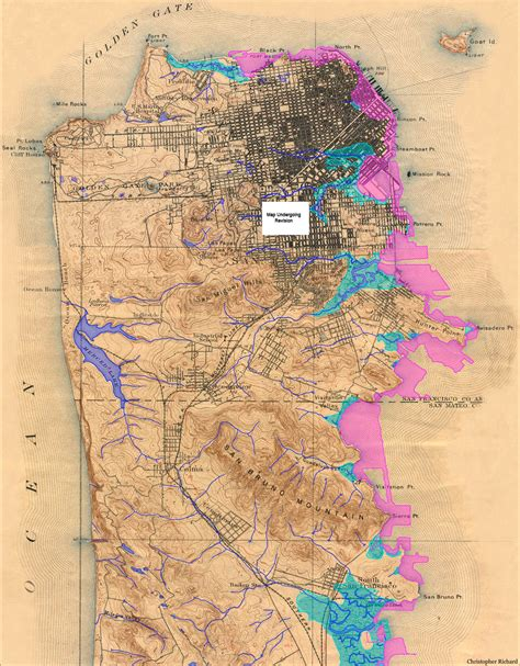 san francisco map mission bay san francisco historical creek map