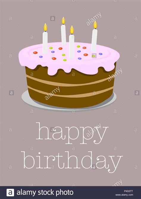 birthday cake illustration stock  birthday cake
