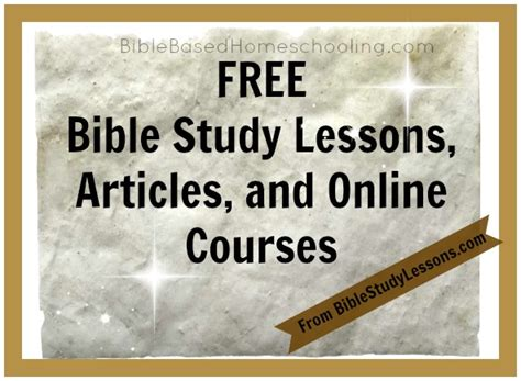 Free Online Bible Study Lessons | free bible study lessons bible based homeschooling