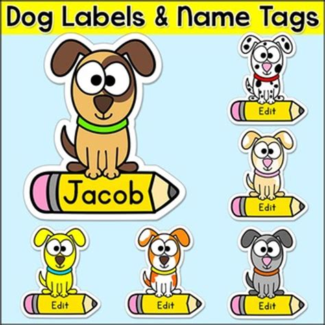 puppy themed names dog theme name tags puppy theme classroom decor by pink