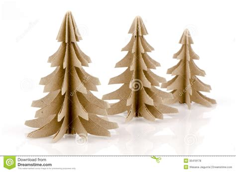 Folding Paper Trees - pine tree royalty free stock photos image 35418178