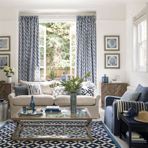 Living Rooms In Blue by 42 Blue Curtain Designs Living Room Blue Living Room With