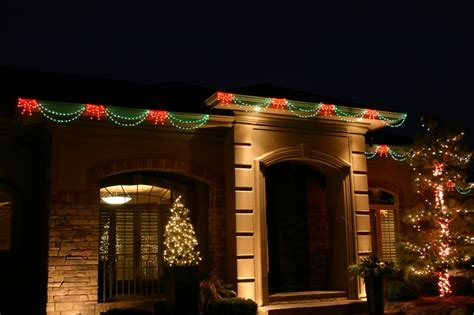 christmas led swag lights with bows 3d bright lights of indiana led bow swag light link
