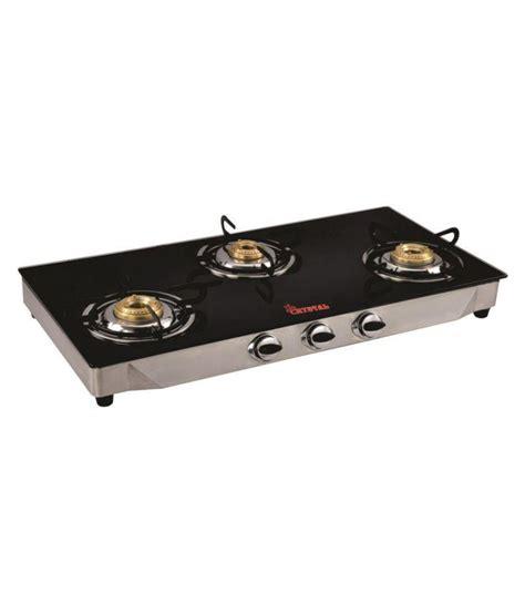 3 burner glass cooktop vartika glass cooktop 3 burner manual gas stove