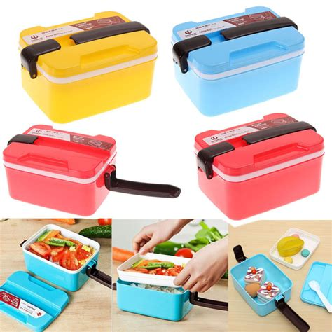 picnic storage containers 2 layer microwave bento picnic food container lunch box