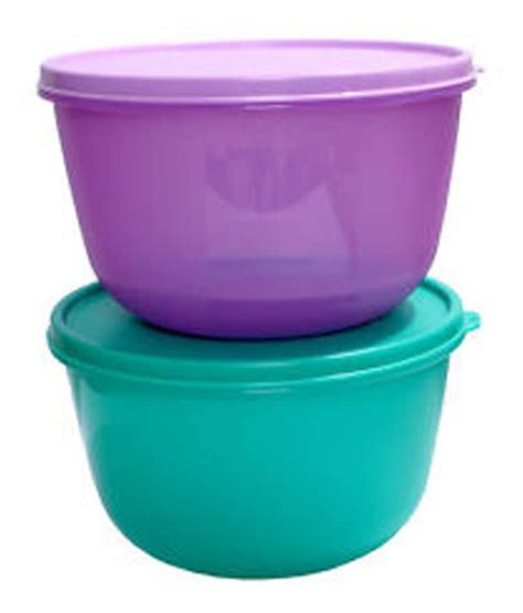 Tupperware Clear Bowl Set 2 tupperware s s bowl 2000ml set of 2 buy at best price in india snapdeal