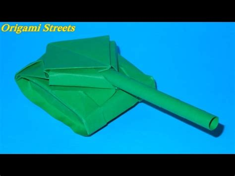 How To Make A Tank Out Of Paper - how to make a tank out of paper origami tank with my