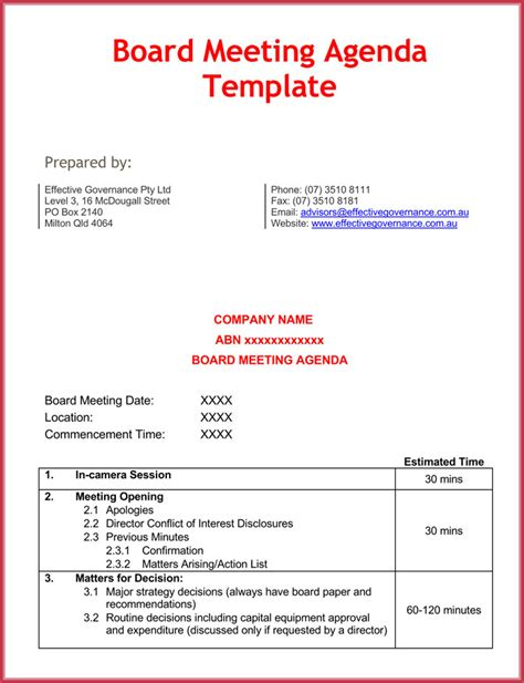 effective meeting minutes template effective meeting agenda templates 9 best sles in