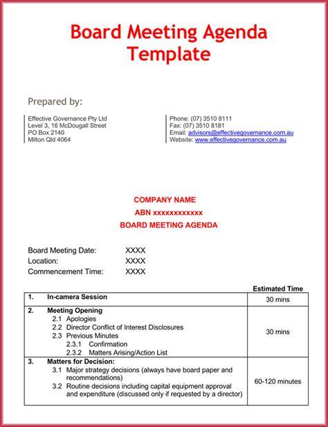 effective agenda template effective meeting agenda templates 9 best sles in