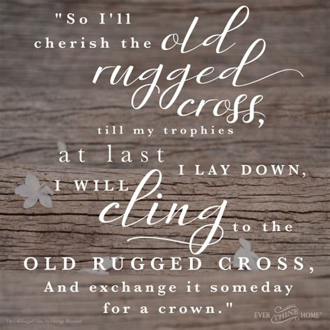 story the rugged cross rugged cross thine home