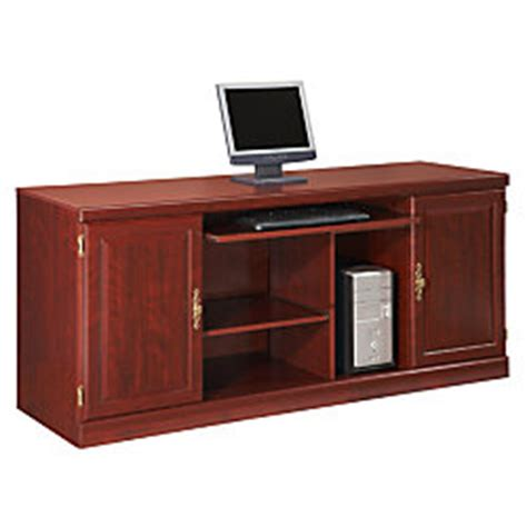 Sauder Heritage Hill Credenza sauder heritage hill credenza 30 18 h x 65 12 w x 20 12 d classic cherry by office depot officemax