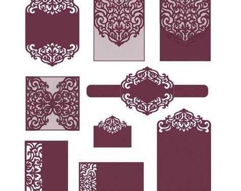 Cricut Place Card Template by Svg Wedding Invitation 5x5 Gate Fold Card Template