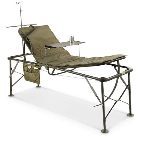 military bed u s military surplus foldable field hospital bed cot new
