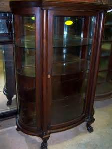 curved glass china cabinet mahogany curved glass china cabinet chippendale federal