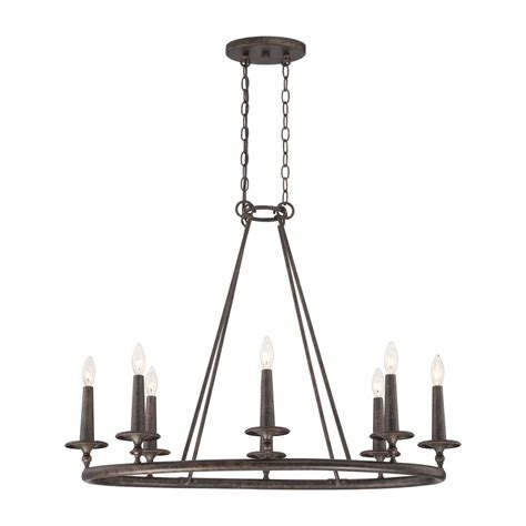 Shop Quoizel Voyager 36 In 8 Light Malaga Rustic Candle 8 Light Chandelier