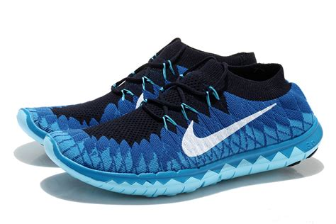 mens nike free flyknit 3 0 running shoes nike free 3 0 flyknit mens blue white running sneakers