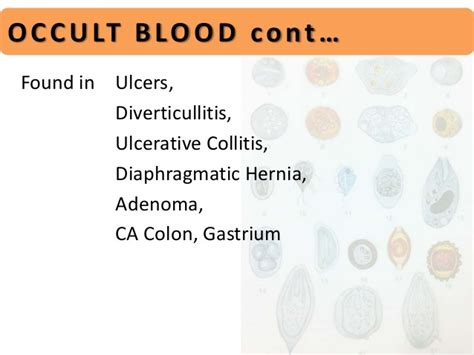 Excess Blood In Stool by Stool Examination