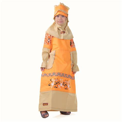 Baju Anak Muslim Kiddos Yuk Shalat detail produk baju anak muslimah borneo kuning toko