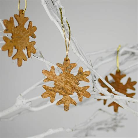 aromatic scale christmas trees aromatic cinnamon tree snowflake decoration by nom living notonthehighstreet