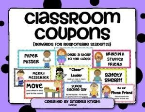coupons to take the place of the treasure box for behavior