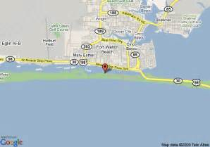map of hton inn fort walton fort walton