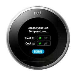 nest fan won t turn how to change your nest thermostat s eco temperature settings