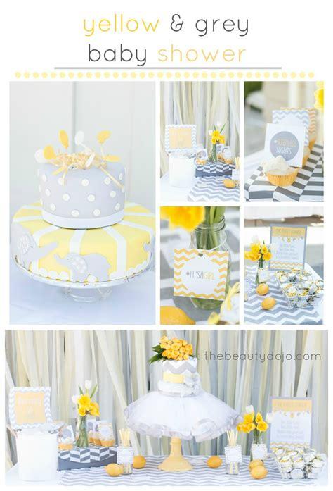 Baby Shower Yellow And Grey by Yellow And Grey Chevron Baby Shower The Beautydojo