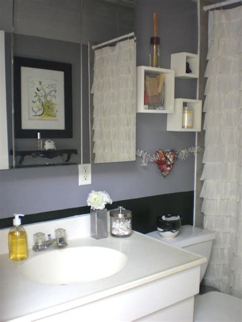 gray and black bathroom bathroom