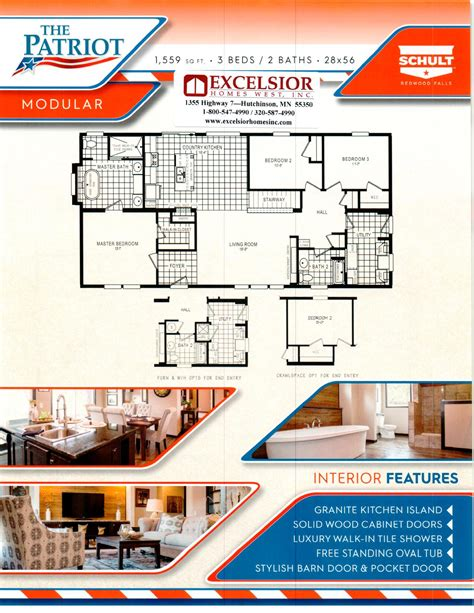 Mobile Home Floor Plans Florida by Schult Homes Patriot Modular Home Plan